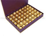 Rectángulo de regalo rígido plegable del almacenaje del chocolate con la cinta