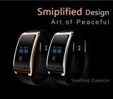 Bluetooth人間の特徴をもつSmartphones (黒)のための4.0個のスマートな腕時計Smartwatch