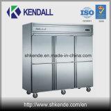 6 Tür-Edelstahl-Handelsküche-Kühlraum
