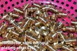 Coude de série S douille de 90 degrés pour le circuit imprimé avec deux Nuts/connecteur circulaire