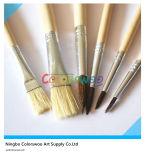 6PCS Wooden Handle Animal Fiber Hair Artist Brush für Painting und Drawing (hölzerne Farbe)
