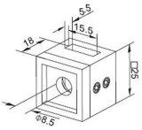 Montage van de Buis van de Houder van de dwarsStaaf de Vierkante voor het Traliewerk van de Trede