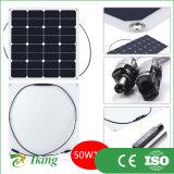 Panneau solaire Semi-Flexible mono du panneau solaire 50W Sunpower de la CE