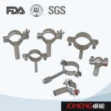 Abrazadera del tubo de la categoría alimenticia del acero inoxidable con el tubo (JN-FL2001)