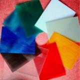 Novo UV Proteção de plástico comercial usado policarbonato folha de estufa para flores