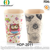 Populärer Tee-Becher BPA geben Bambusfaser-Kaffeetasse frei (HDP-2011)