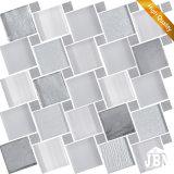 ヨーロッパの新しいデザイン壁の装飾灰色カラーガラスモザイク(M855162)