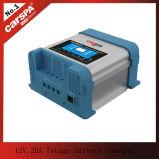 Fabrikant 12V, 20A de automatische lader van de 7 stadiumbatterij met leiden (kan 2 batterijen in één keer laden)