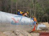 Tubulação ondulada da drenagem do grande diâmetro da fábrica de 9 anos