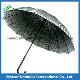 형식 Mens는 스포츠 까만 격자 골프 똑바른 우산을 냉각한다