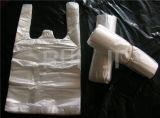 Automatische zwei Zeile Plastikshirt-Beutel, der Maschine herstellt