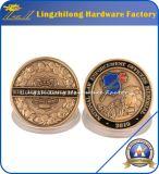 Moneda de encargo del recuerdo del tema del ejército F-16 con el rectángulo