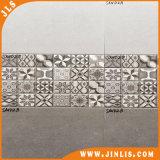 Azulejo de cerámica rústico brillante 2016 de la pared del diseño gris del material de construcción