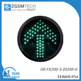 Luz de sinal verde do tráfego do sentido da seta para o diâmetro 200mm da cor vermelha da recolocação 8 polegadas