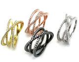 매력 여자 패션 악세사리 도매 925 은 보석 2개의 반지 R10549