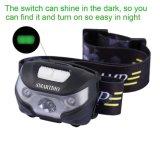운동 측정기 헤드 램프 빛 방수 크리 사람 LED 핸즈프리 USB 재충전용 Headlamp 헤드라이트