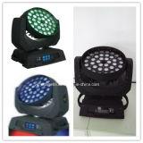 luz principal móvil del disco de DJ de la etapa del zoom de la colada de 36X10W LED