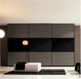 Mueble de casa Blanco y Negro de alto brillo Laca Armario