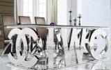 Grote Eettafel van het Roestvrij staal van Word van het Ontwerp van de luxe de Engelse (A8036)