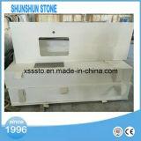 Bancada branca artificial da cozinha da pedra de quartzo para a venda