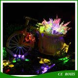 Indicatore luminoso solare variopinto 20LED/30LED della stringa della farfalla LED di natale per la decorazione del partito di festival