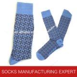 Bunte Form-beiläufiges Kleid-Socken der Männer (UBM 1014)