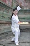 De Lente van de Vrouwen van de Chi van Wudang Tai van het taoïsme & Kleding van de Kraag van het Vlas van de Zomer de Schuine