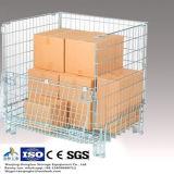 セリウムによって証明される折りたたみスタック可能鋼線の網パレット容器