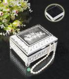 Rectángulo de joyería plateado plata (BM del BA 12558)