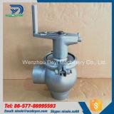 El control de flujo manual de la categoría alimenticia del acero inoxidable desvía la válvula