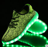 Tela de malha respirável Rubber LED Canvas Shoes