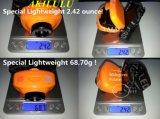 Bewegungs-Fühler CREE LED Scheinwerfer des Scheinwerfer-justierbarer Streifen-wasserdichter Hauptlampen-Licht-3*AAA