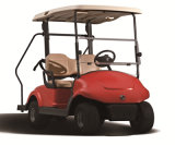 Kids Stand Plate (EQ9022)를 가진 빨간 Smooth 2 Seater Electric Golf Cart