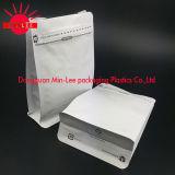 Allerlei De Zak van de Koffie met Klep & tin-Tae met Ritssluiting/Standup/Aluminiumfolie/vlak Bodem/het Document van Kraftpapier