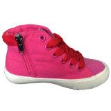 Preiswerter Großhandelsform-Espadrille-Rosa-Mädchen-Segeltuch-Schuh in China