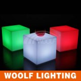 Tabouret de fauteuil de siège cube illuminé Light up LED Cube