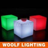 Le feci della presidenza della sede del cubo illuminate illuminano in su il cubo del LED