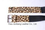 Courroie de cheveu de cheval de courroie en cuir de fourrure de léopard pour les femmes Jbe1637
