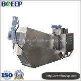 Filtro de la prensa de tornillo en proyecto del tratamiento de aguas residuales