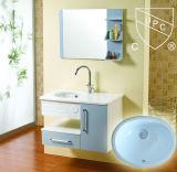 صغيرة بيضاء خزفيّة [أوندرموونت] غرفة حمّام [وش بسن] بيضويّة ([سن001])