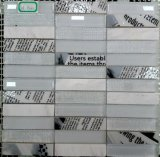 Neuer Entwurfs-weißes und schwarzes Marmorfußboden-Muster
