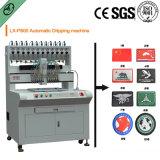 Máquina automática de dispensador de etiquetas de borracha com silicone líquido, PVC, tinta. Com 12 cores