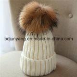Зима большого Beanie шерсти POM теплая связала шлемы шлема связанные шерстью