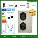 Amb。 一体鋳造-25cの冬の床の家庭暖房システム12kw/19kw/35kw R407c 55c熱湯は低温Eviの自動霜を取り除く。 ヒートポンプ