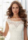 Sleeves Hotsale Spitze-Tulle-Satin-Schutzkappe 2017 Mori Lee A - Zeile Hochzeits-Kleid (Dream-100064)