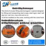 Desecho del ciclo de deber del 75% que levanta el electroimán circular con 2300kg la capacidad de elevación MW5-165L/1-75