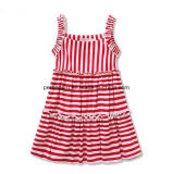 Moda Stripe Lovely Princess Dress Dress Dress Girls