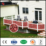 Сбывание изгороди и загородки листьев Sunwing дешево PVC-Coated красное поддельный искусственное