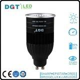 Lumière 2016 en aluminium d'endroit du projecteur GU10 6/8W DEL de lampe de promotion avec du ce et le RoHS