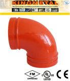 300 Psi Ductile Iron 90 Degree Grooved Elbow Fittings